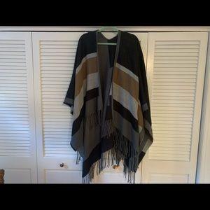Nordstrom cardigan shawl with fringe